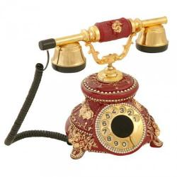 Güllü Bordo Varaklı Swarovski Taşlı Telefon