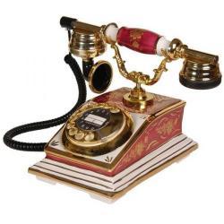 Büro Bordo Beyaz Porselen Telefon