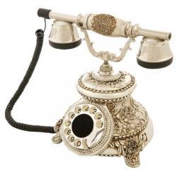 Güllü Gümüş Varaklı Swarovski Taşlı Telefon
