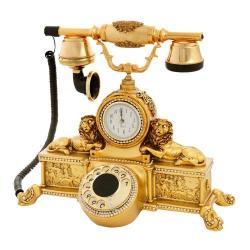 Çift Aslanlı Varaklı Swarovski Taşlı Telefon