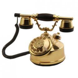 Kubbe B Altın Antik Telefon