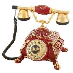 Osmanlı Bordo Varaklı Swarovski Taşlı Telefon