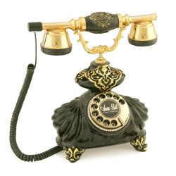 İtalyan Burmalı Siyah Varaklı Telefon