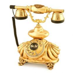 İtalyan Burmalı Altın Varaklı Telefon