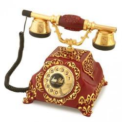 Şehrazat Antik Bordo Varaklı Telefon