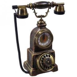 Konak Ferforje Saatli Porselen Telefon