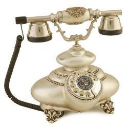 İtalyan Tombul Gümüş Varaklı Telefon
