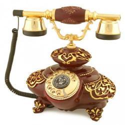 İtalyan Tombul Bordo Varaklı Telefon