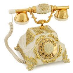 Şehrazat Antik Çatlak Beyaz Varaklı Telefon