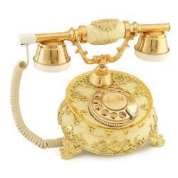 Villa Antik Ayaklı Şampanya Varaklı Telefon