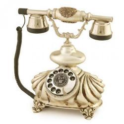 İtalyan Burmalı Gümüş Varaklı Telefon