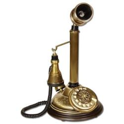 Eskitme Oval El Dekorlu Leylek Telefon