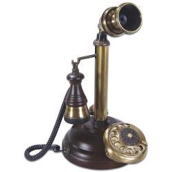 Eskitme Kubbe Ahşap Leylek Telefon