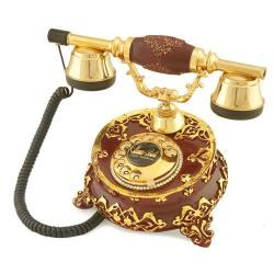 Villa Antik Ayaklı Bordo Varaklı Telefon