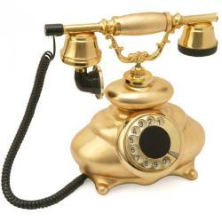 İtalyan Altın Varaklı Klasik Telefon