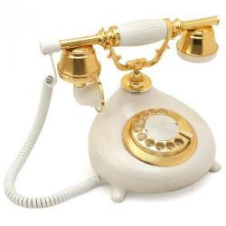 Çatlak Beyaz Damla Klasik Telefon