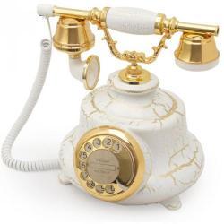 Tombul Çatlak Beyaz Klasik Telefon