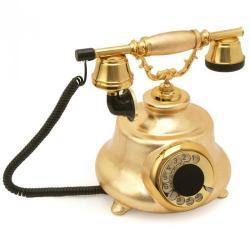 Tombul Altın Varaklı Klasik Telefon