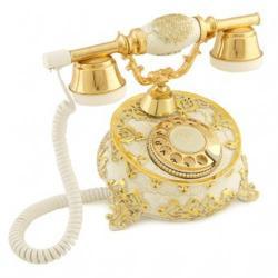 Villa Antik Ayaklı Beyaz Telefon