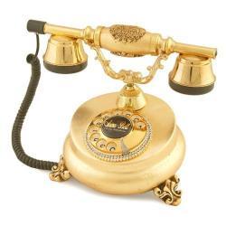 Villa Antik Ayaklı Altın Varaklı Telefon