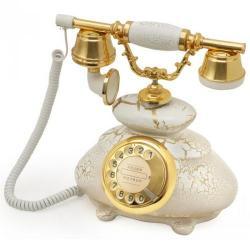 Çatlak Beyaz İtalyan Klasik Telefon