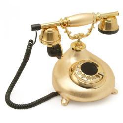 Damla Altın Varaklı Klasik Telefon