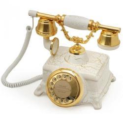 Çatlak Beyaz Şato Klasik Telefon