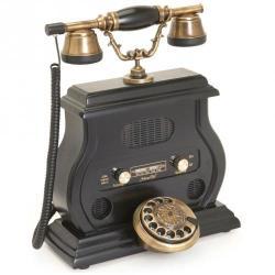 Eskitme Siyah Radyolu Telefon