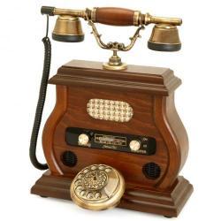 Eskitme Ceviz Radyolu Telefon
