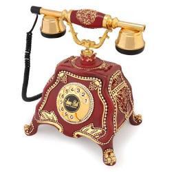 Barok Bordo Varaklı Telefon
