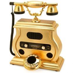 Radyolu Altın Varaklı Telefon