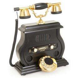 Radyolu Siyah Telefon