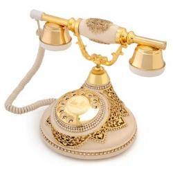 Antik Damla Kemik Varaklı Telefon