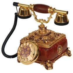 Konak Deri Desenli Varaklı Telefon