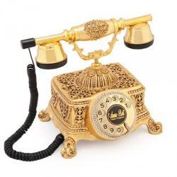 Şato Altın Varaklı Swarovski Taşlı Telefon