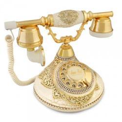 Antik Damla Şampanya Varaklı Telefon