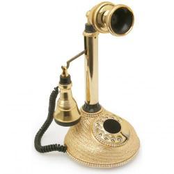 Hasır Leylek Altın Varaklı Swarovski Taşlı Telefon