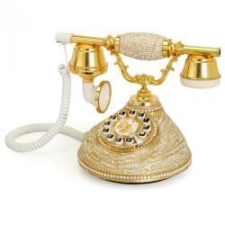 Hasır Damla Beyaz Varaklı Telefon