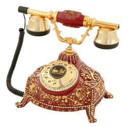 Ufo Bordo Varaklı Swarovski Taşlı Telefon