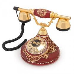 Antik Damla Bordo Varaklı Telefon