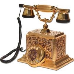 Şato Varaklı İşlemeli Simli Telefon