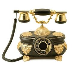 Venüs Siyah Altın Varaklı Swarovski Taşlı Telefon