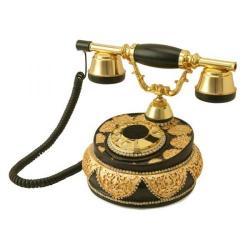 Villa Siyah Varaklı Swarovski Taşlı Telefon