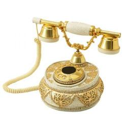 Villa Beyaz Altın Varaklı Swarovski Taşlı Telefon