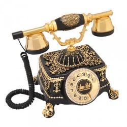 Şato Siyah Varaklı Swarovski Taşlı Telefon