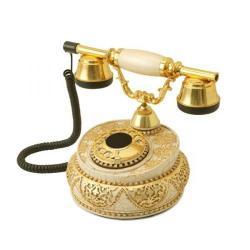 Villa Şampanya Varaklı Swarovski Taşlı Telefon