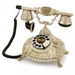Ufo Gümüş Varaklı Swarovski Taşlı Telefon