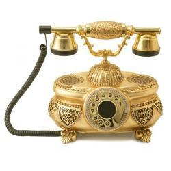 Venüs Altın Varaklı Swarovski Taşlı Telefon