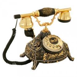 Ufo Siyah Varaklı Swarovski Taşlı Telefon
