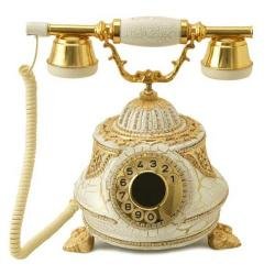 Tombul Altın Varaklı Swarovski Taşlı Telefon